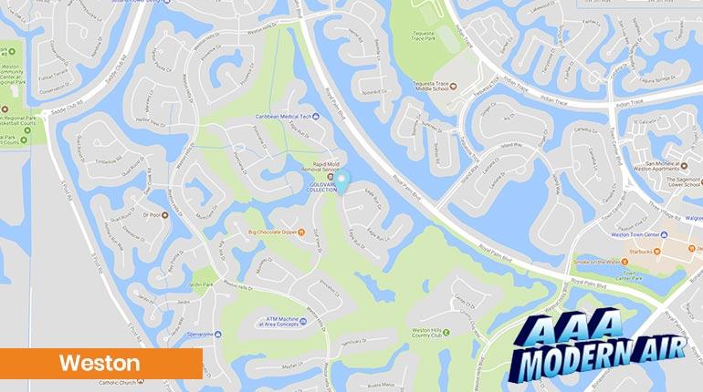 Map Of Weston Florida.Weston Air Conditioning Repair Installation Ac Services
